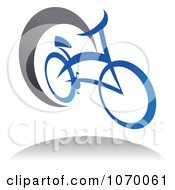 Clipart Cyclist Icon And Shadow 9 Royalty Free Vector Illustration