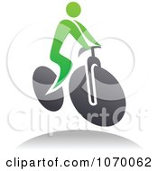 Clipart Cyclist Icon And Shadow 7 Royalty Free Vector Illustration