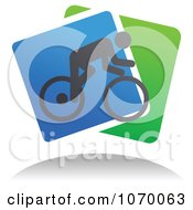 Clipart Cyclist Icon And Shadow 8 Royalty Free Vector Illustration