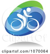 Clipart Cyclist Icon And Shadow 2 Royalty Free Vector Illustration by Seamartini Graphics