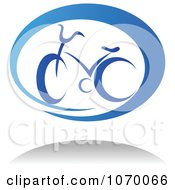 Clipart Cyclist Icon And Shadow 4 Royalty Free Vector Illustration
