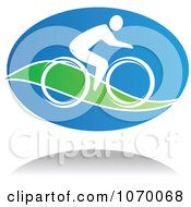 Clipart Cyclist Icon And Shadow 6 Royalty Free Vector Illustration by Seamartini Graphics
