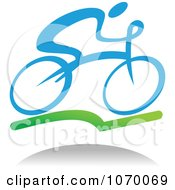 Clipart Cyclist Icon And Shadow 1 Royalty Free Vector Illustration by Seamartini Graphics