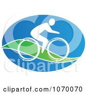 Clipart Cyclist Icon 6 Royalty Free Vector Illustration by Seamartini Graphics