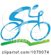 Clipart Cyclist Icon 1 Royalty Free Vector Illustration