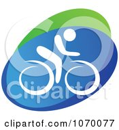 Clipart Cyclist Icon 2 Royalty Free Vector Illustration by Seamartini Graphics