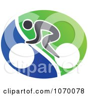 Clipart Cyclist Icon 3 Royalty Free Vector Illustration by Vector Tradition SM