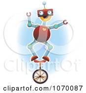 Robot Standing Atop A Unicycle