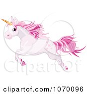 Pink Unicorn Leaping