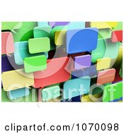 Clipart 3d Colorful Dialog Chat Windows Royalty Free CGI Illustration
