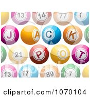 Clipart 3d Colorful Jackpot Lottery Balls Royalty Free Vector Illustration