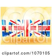 Clipart 3d Word LONDON With The Union Jack Pattern Royalty Free Vector Illustration by elaineitalia