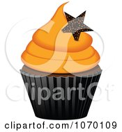 Clipart 3d Halloween Cupcake With A Star Royalty Free Vector Illustration