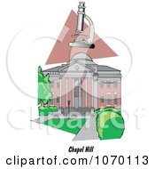 Clipart Microscope Over The University Of North Carolina At Chapel Hill Royalty Free Vector Illustration