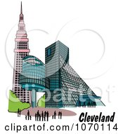 Clipart Buildings In Cleveland Ohio Royalty Free Vector Illustration by Andy Nortnik