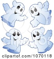 Clipart Spooky Halloween Ghosts Royalty Free Vector Illustration