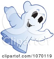 Clipart Spooky Halloween Ghost 1 Royalty Free Vector Illustration