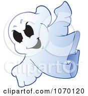 Clipart Spooky Halloween Ghost 2 Royalty Free Vector Illustration