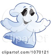 Clipart Spooky Halloween Ghost 3 Royalty Free Vector Illustration