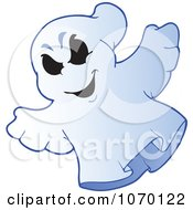 Clipart Spooky Halloween Ghost 4 Royalty Free Vector Illustration