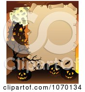 Clipart Halloween Parchment Frame 1 Royalty Free Vector Illustration
