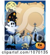 Clipart Halloween Parchment Frame 2 Royalty Free Vector Illustration