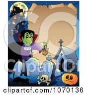 Clipart Halloween Parchment Frame 3 Royalty Free Vector Illustration