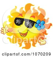 Clipart Presenting Summer Sun Royalty Free Vector Illustration