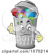 Clipart Grouchy Trash Can Royalty Free Vector Illustration by visekart