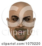 Clipart 3d Mean Bald Mans Face 2 Royalty Free CGI Illustration by Ralf61