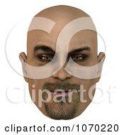 Clipart 3d Mean Bald Mans Face 2 Royalty Free CGI Illustration