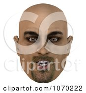 Clipart 3d Bald Mans Face 3 Royalty Free CGI Illustration by Ralf61