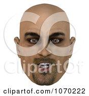 Clipart 3d Bald Mans Face 3 Royalty Free CGI Illustration