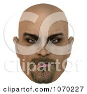 Clipart 3d Bald Mans Face 1 Royalty Free CGI Illustration