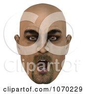 Clipart 3d Shocked Bald Mans Face Royalty Free CGI Illustration