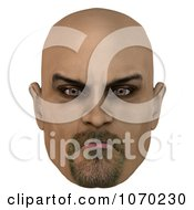 Clipart 3d Mean Bald Mans Face 6 Royalty Free CGI Illustration by Ralf61
