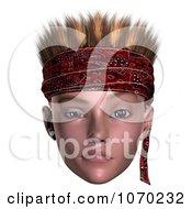 3d Skeptical Hoodlum Boy Wearing A Bandana 3