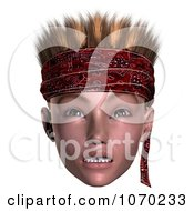Clipart 3d Mean Hoodlum Boy Wearing A Bandana 3 Royalty Free CGI Illustration by Ralf61