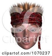 Clipart 3d Skeptical Hoodlum Boy Wearing A Bandana 2 Royalty Free CGI Illustration by Ralf61
