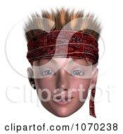 Clipart 3d Hoodlum Boy Wearing A Bandana 3 Royalty Free CGI Illustration by Ralf61