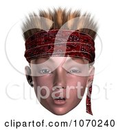 Clipart 3d Skeptical Hoodlum Boy Wearing A Bandana 1 Royalty Free CGI Illustration by Ralf61
