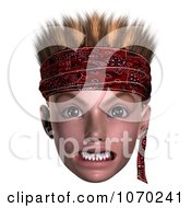 Clipart 3d Mean Hoodlum Boy Wearing A Bandana 1 Royalty Free CGI Illustration by Ralf61
