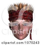 Clipart 3d Hoodlum Boy Wearing A Bandana 1 Royalty Free CGI Illustration
