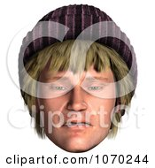 Clipart 3d Upset Hippie Mans Face Royalty Free CGI Illustration by Ralf61
