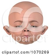 Clipart 3d Baby Face 1 Royalty Free CGI Illustration