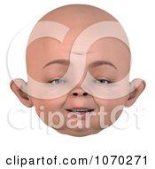 Clipart 3d Baby Face 2 Royalty Free CGI Illustration