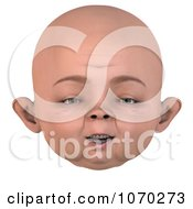 Clipart 3d Baby Face 3 Royalty Free CGI Illustration