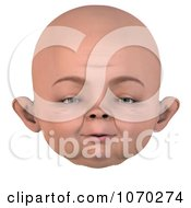 Clipart 3d Baby Face 4 Royalty Free CGI Illustration