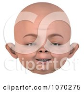 Clipart 3d Baby Face 5 Royalty Free CGI Illustration