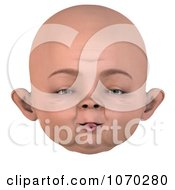 Clipart 3d Baby Face 9 Royalty Free CGI Illustration